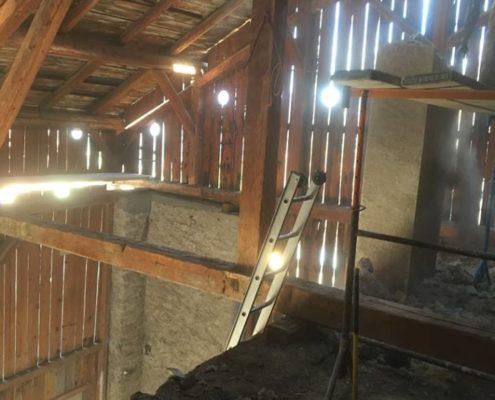 Rénovation de grange par Maçonnerie Pouget