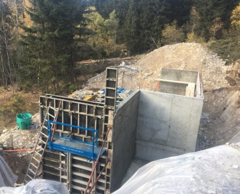 Sous-bassement et murs de soutainement Pralognan par Maçonnerie Pouget